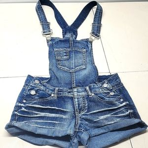 Blue Spice Blue Overall Denim Short Shorts